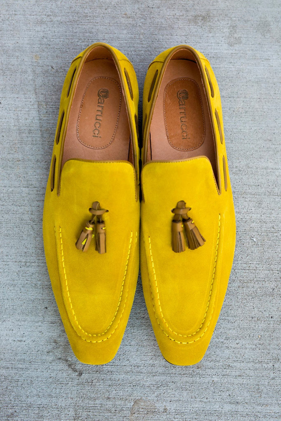 Carrucci by Maurice Suede Tasseled Loafer Mustard