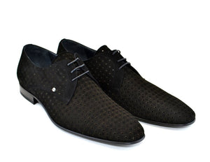 Corrente Suede Lace-Up Oxford Black
