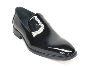 Patent Leather Slip-On Loafer Black