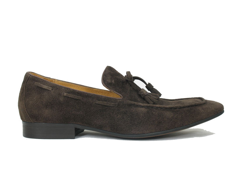 Suede Slip-On Loafer Brown