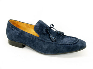 Suede Slip-On Loafer Navy