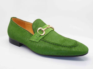 Carrucci by Maurice Pony Hair Loafer Green