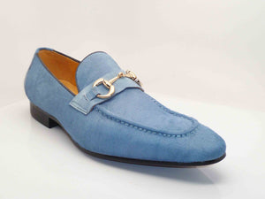 Carrucci by Maurice Pony Hair Loafer Sky/Blue