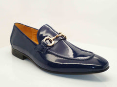 Carrucci by Maurice Shiny Calfskin Loafer Navy