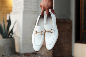 Carrucci by Maurice Shiny Calfskin Loafer White