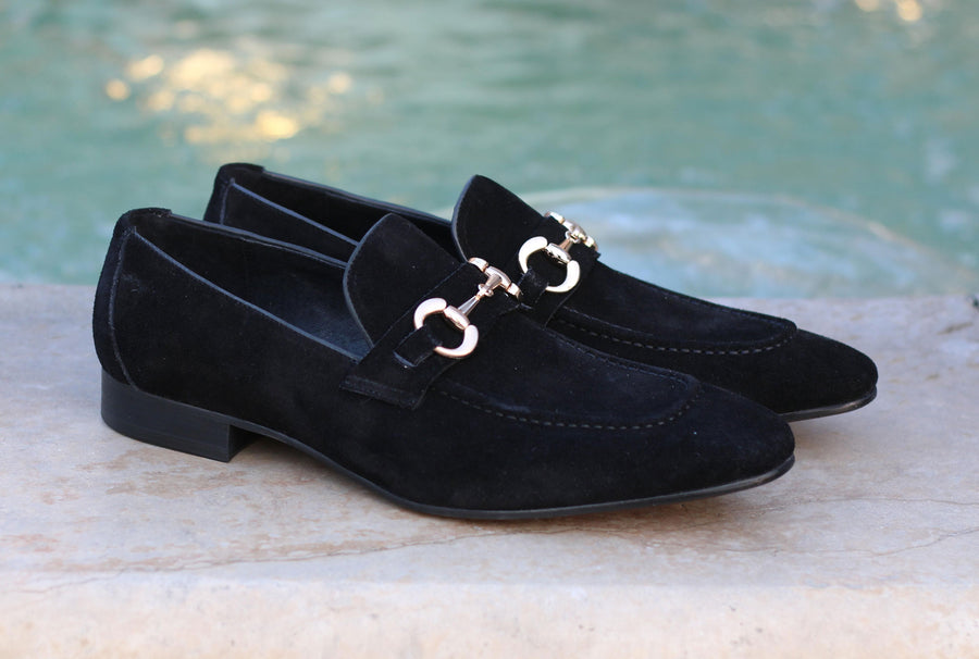 Carrucci by Maurice Suede Loafer Black