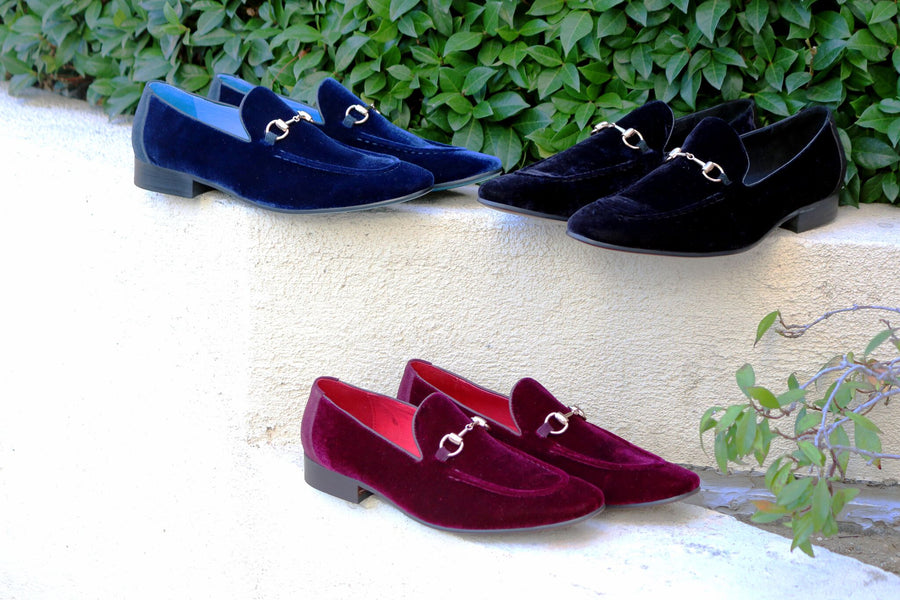 Velvet Slip-On Loafer Black