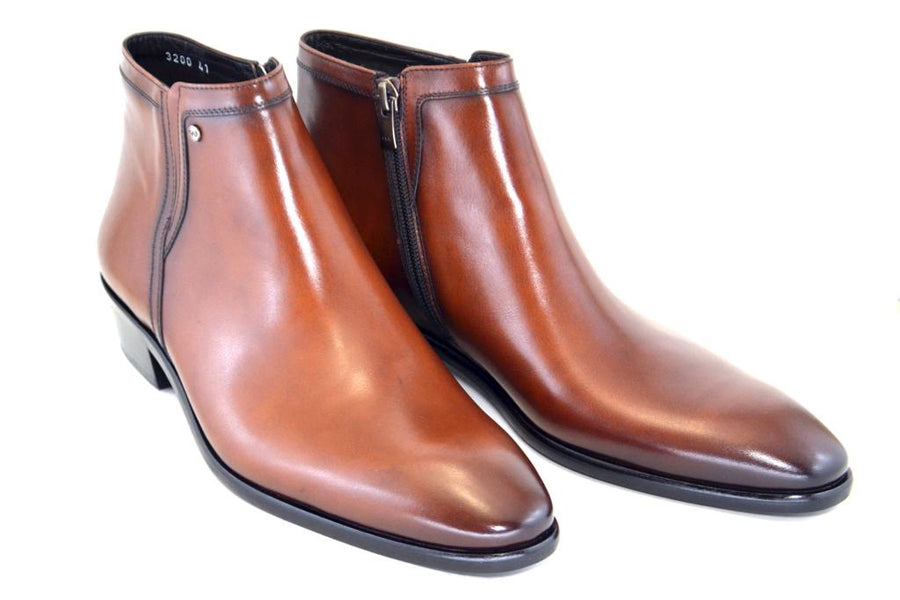 Corrente Burnished Calfskin Slip-On Boot Tabac