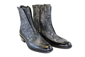 Corrente Python Printed Calfskin Slip-On Boot Black