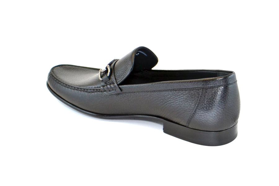 Corrente Deerskin Slip-On Loafer Black