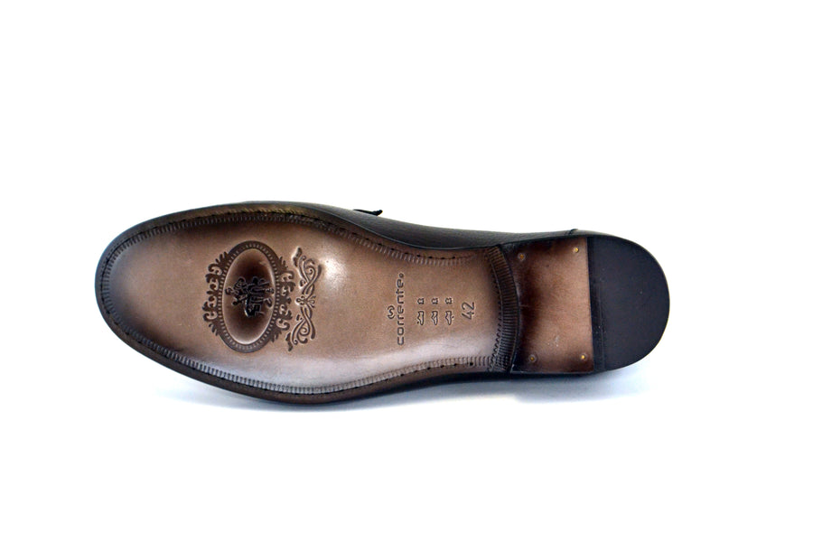 Corrente Deerskin Slip-On Loafer Brown