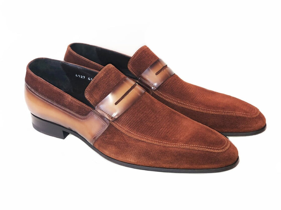 Corrente Suede Penny Loafer Tobacco