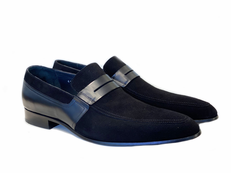 Corrente Suede Penny Loafer Black