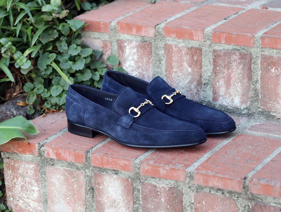 Corrente Suede Slip-On Loafer Navy