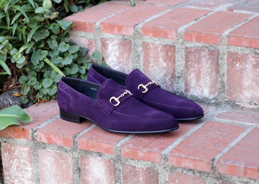Corrente Suede Slip-On Loafer Purple