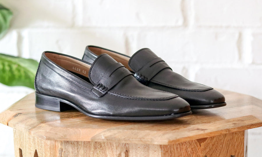 Corrente Lambskin Penny Loafer Black