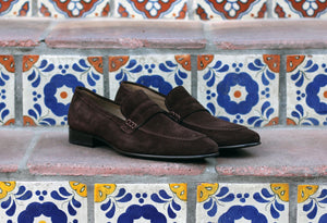 Corrente Suede Penny Loafer Brown