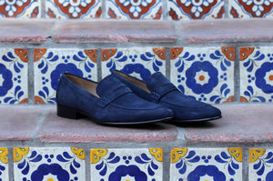 Corrente Suede Penny Loafer Navy