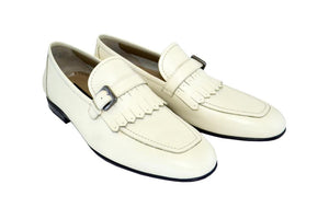 Corrente Deerskin Slip-On Loafer Beige