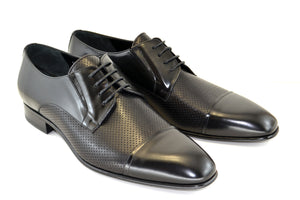 Corrente Calfskin Lace-Up Oxford Black