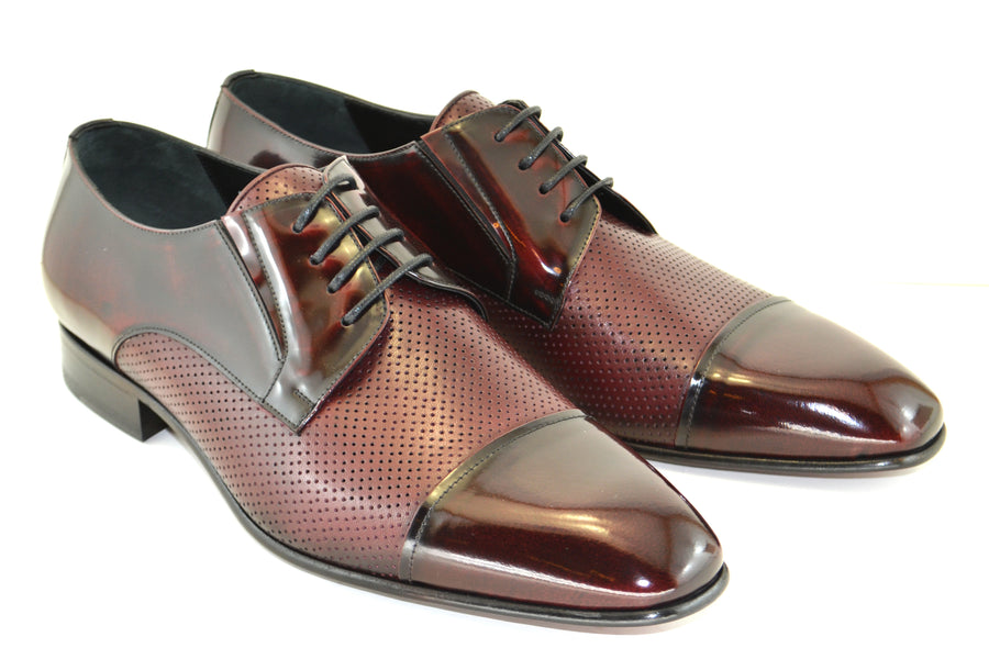 Corrente Calfskin Lace-Up Oxford Burgundy