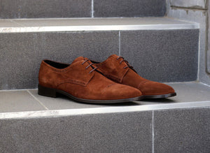 Corrente Suede Lace-Up Oxford Brown