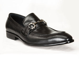 Burnished Calfskin Slip-On Loafer Black