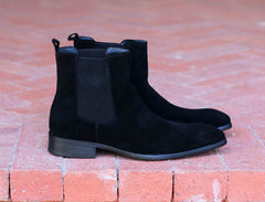 Suede Slip-On Boot Black