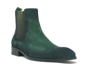 Suede Slip-On Boot Green