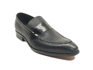 Caviar Leather Slip-On Loafer Black