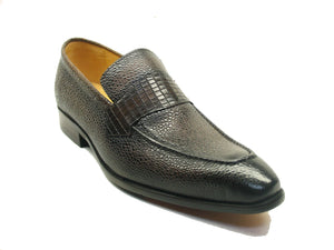 Caviar Leather Slip-On Loafer Brown