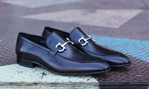 Corrente Calfskin Slip-On Loafer Black
