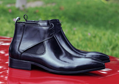 Carrucci by Maurice Calfskin Slip-On Boot Black