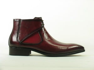 Carrucci by Maurice Calfskin Slip-On Boot Burgundy