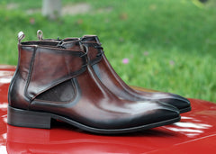 Carrucci by Maurice Calfskin Slip-On Boot Chestnut