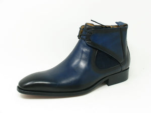 Carrucci by Maurice Calfskin Slip-On Boot Navy
