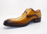 Burnished Calfskin Monkstrap Tan
