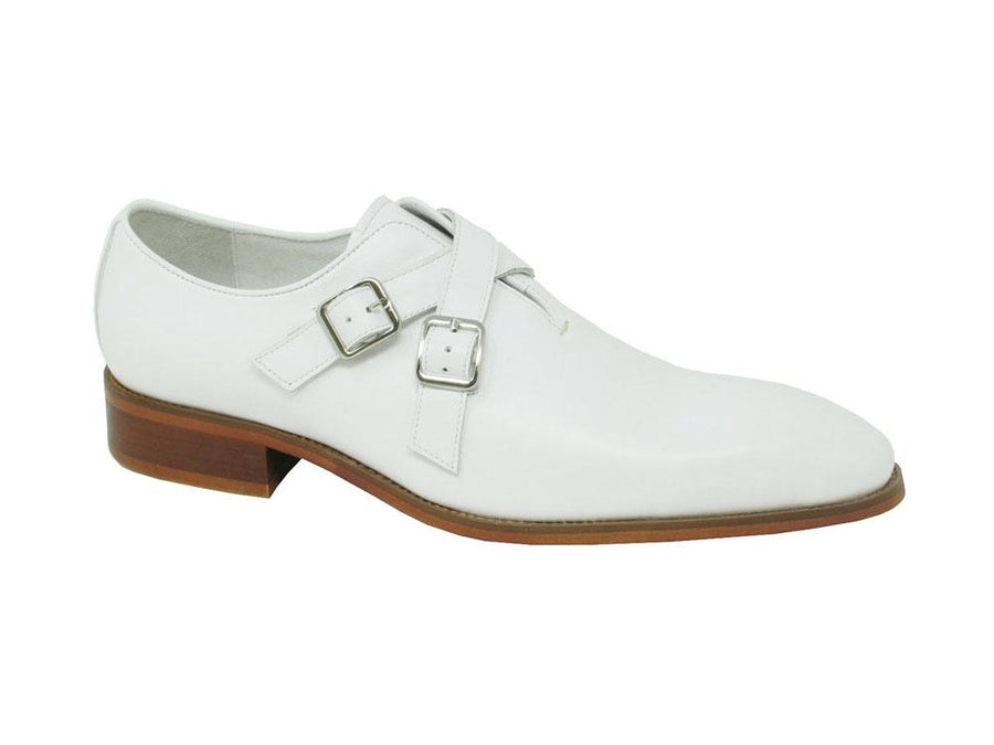 Calfskin Cross Strap Loafer White