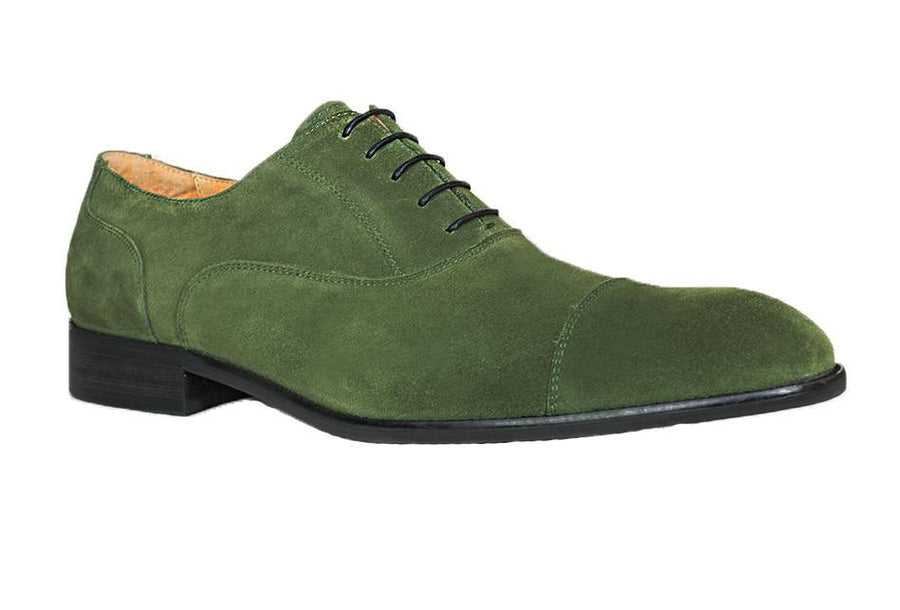 Suede Lace-Up Oxford Olive