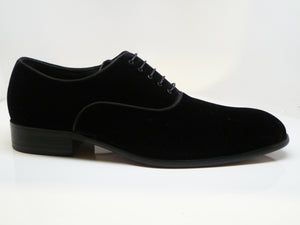 Velvet Lace-Up Oxford Black
