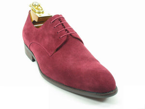 Carrucci by Maurice Suede Lace-Up Oxford Burgundy