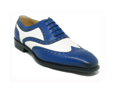 Calfskin Spectator Wingtip Oxford Blue/White