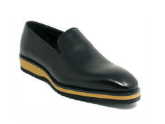 Calfskin Slip-On Venetian Loafer Black