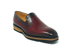 Calfskin Slip-On Venetian Loafer Burgundy