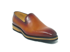 Calfskin Slip-On Venetian Loafer Cognac
