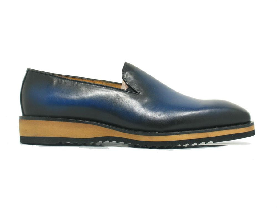 Calfskin Slip-On Venetian Loafer Ocean/Blue