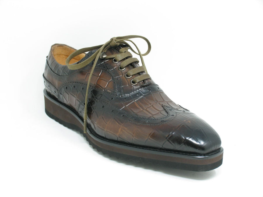 Calfskin Lace-Up Oxford Brown