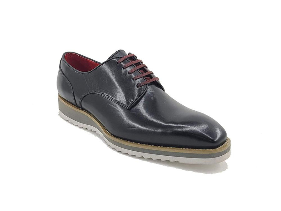 Burnished Calfskin Lace-Up Shoe Black