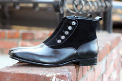 Calfskin Slip-On Boot Black