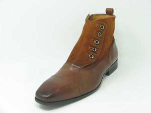 Calfskin Slip-On Boot Brown